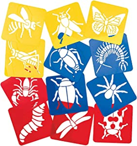 Fun Express Big Bug Stencils - 12 Pieces - Educational and Learning Activities for Kids