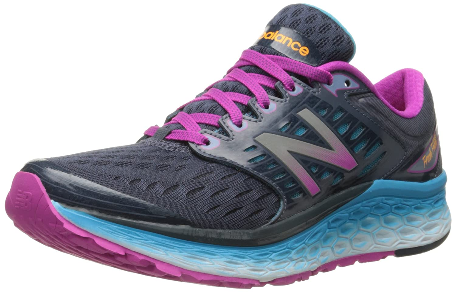 New Balance Women's Fresh Foam 1080v6 Running Shoe B00YVIDAMW 5.5 B(M) US|Blue/Pink