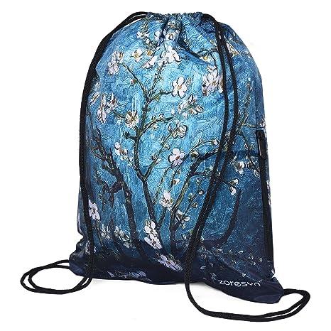 395c3d60070 Amazon.com | Waterproof Drawstring Bag Sport Gym Runner Knapsack  Lightweight Sackpack Backpack for Men and Women | Drawstring Bags