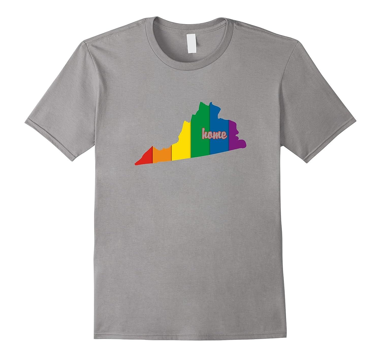 Virginia Rainbow Shirt LGBT Flag Pride Gift Ideas-CD