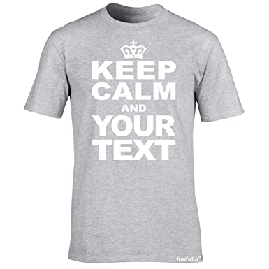 616ca253d KIDS PERSONALISED KEEP CALM T SHIRTS (Sport Grey) New Child Boy Girl Youth  Junior Premium Soft Style Custom keepcalm tshirt - Your Text Top - design  Carry ...