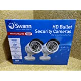 Swann SWPRO-H855PK2-UK Pro Series 1080p HD Bullet Security Cameras - White (Twin Pack)