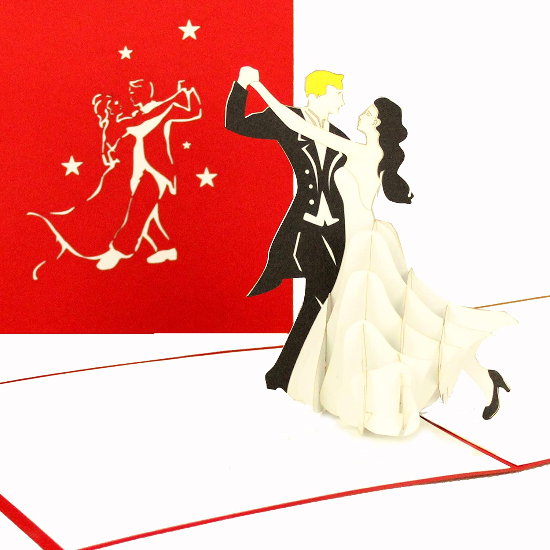 """49D Pop Up Karte """"Tanzpaar"""" - Hochzeitskarten, Einladungskarten ... - 3d Einladungskarten Hochzeit"""
