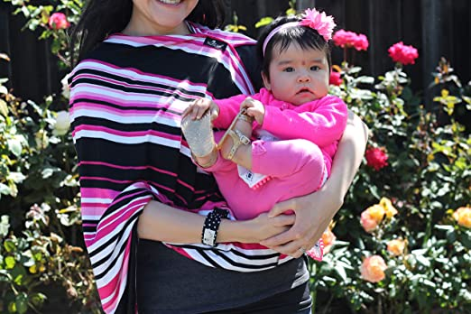 Flamingo NursElet 5-in-1 Breastfeeding /& Car Seat Canopy Cover Baby Shower Gift for New Parents