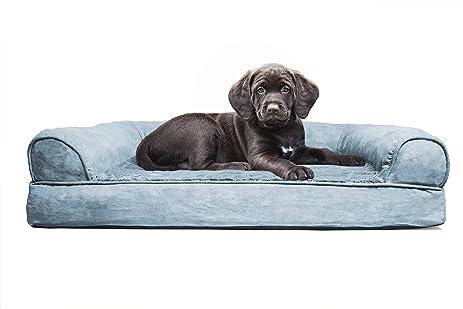 Amazoncom FurHaven Small Plush Suede Orthopedic Sofa Pet Bed