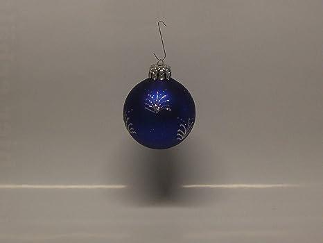 Albero Di Natale Con Decorazioni Blu : Palla di natale blu opaco con glitter brillantini argento