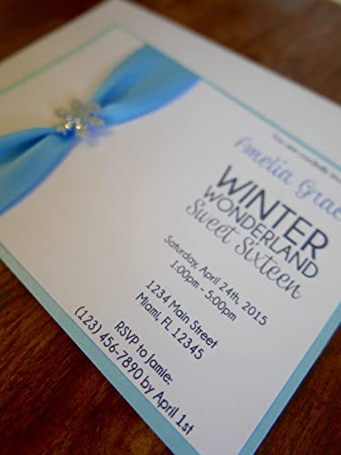 amazon com winter wonderland sweet 16 invitations sweet sixteen