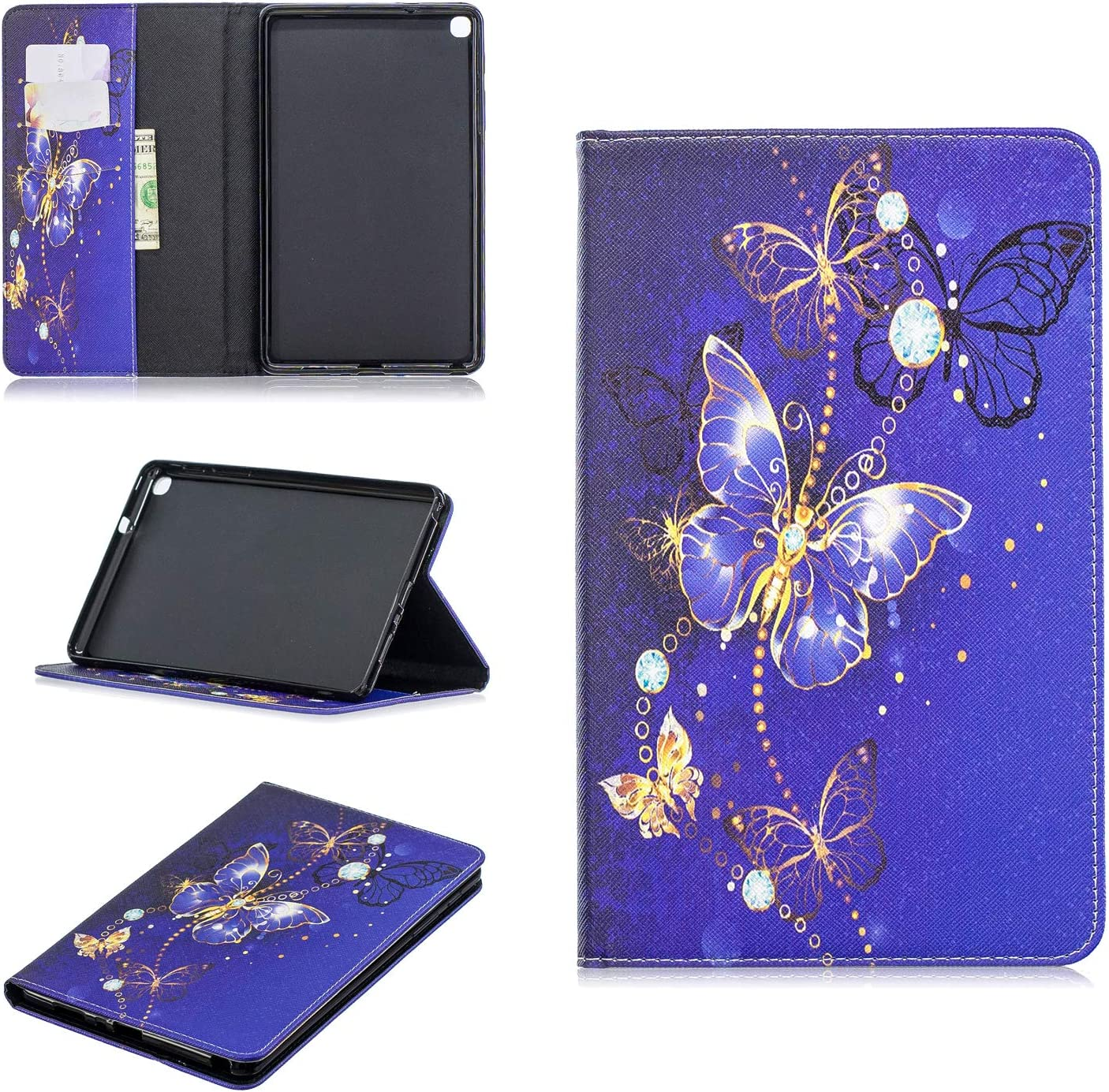 2019 with S Pen SM-P200,Colorful Print Smart Magnetic Flip PU Leather Card Slots Shockproof Soft Rubber Stand Tablet Case,Dont Touch Me Cfrau Wallet Case with Black Stylus for Samsung Tab A 8.0