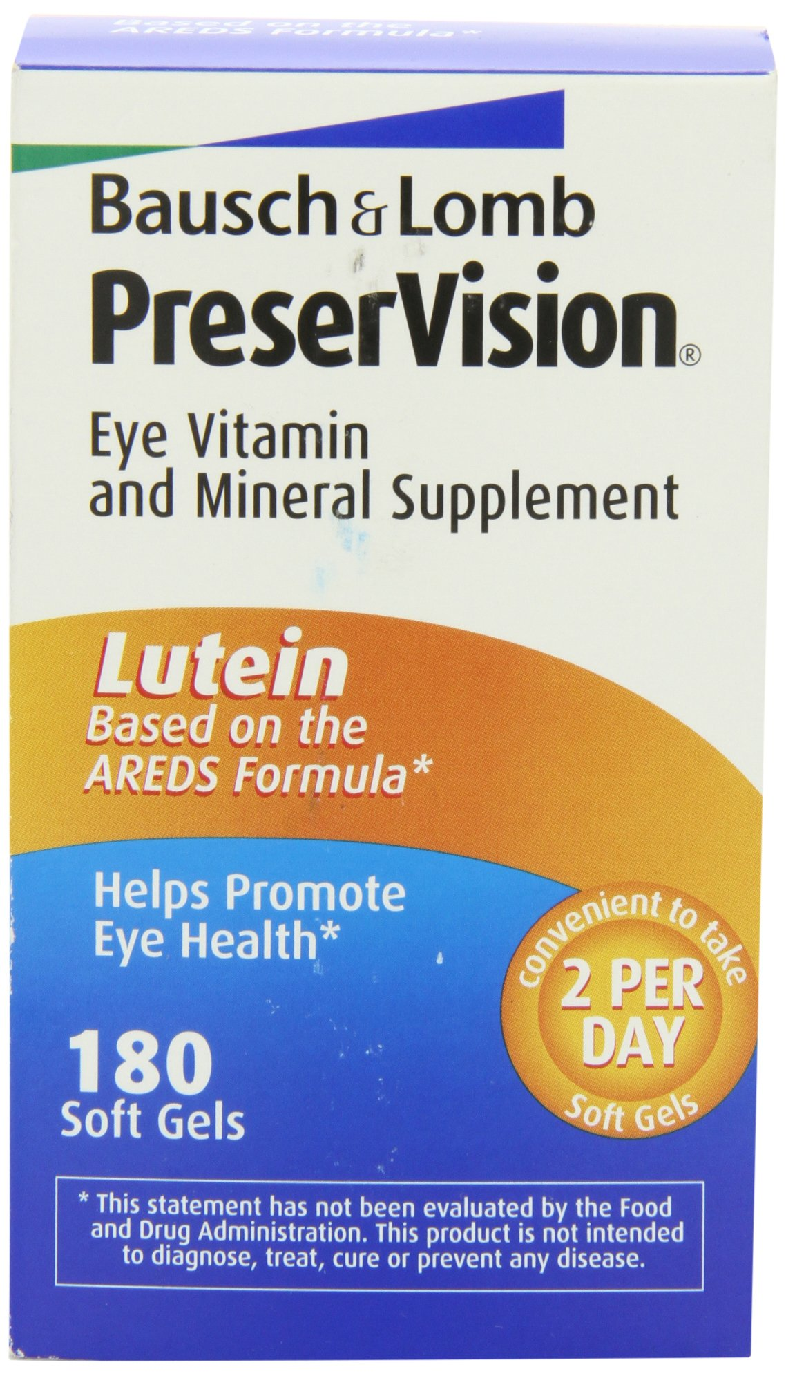 Bausch & Lomb Preservision Eye Vitamin and Mineral Supplement with Lutein - 180 Softgels by Bausch & Lomb