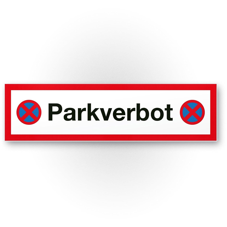 parkverbot Cartel (Matrícula Rojo, 40 x 10 cm) | Nota placa ...