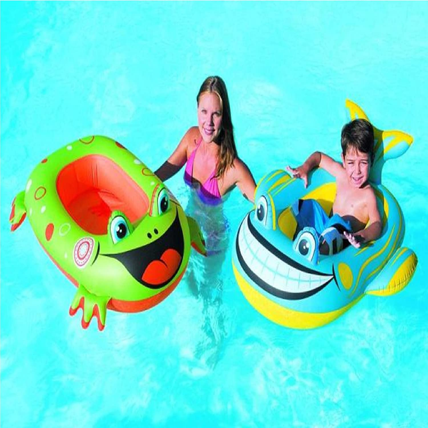 BESTWAY INFLATABLE GREEN FROG BOAT FLOAT SWIMMING POOL TOYS