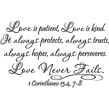 Love Is Patient Quote Delectable Amazon 48 Love Is Patient Love Is Kind It Always Protects