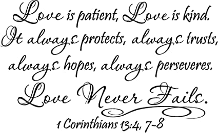 Amazoncom 2 Love Is Patient Love Is Kind It Always Protects