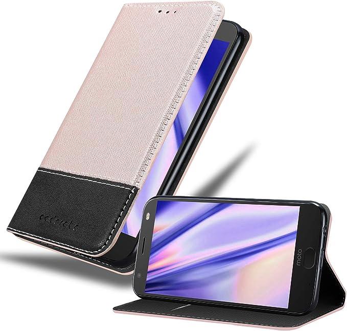 Cadorabo Funda Libro para Motorola Moto X4 en Rosa Oro Negro – Cubierta Proteccíon con Cierre Magnético, Tarjetero y Función de Suporte – Etui Case Cover Carcasa: Amazon.es: Electrónica