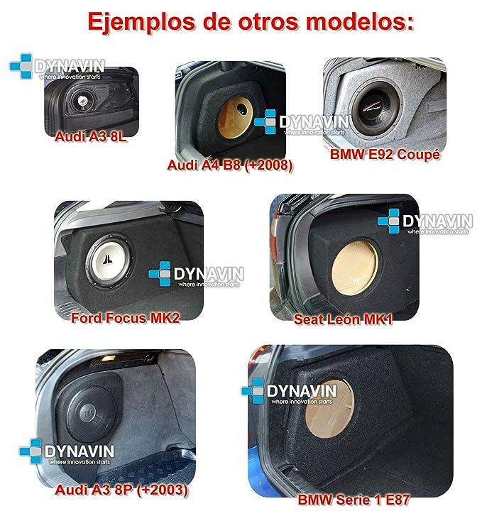 BMW E39 SEDAN - CAJA ACUSTICA PARA SUBWOOFER ESPECÍFICA PARA HUECO EN EL MALETERO: Amazon.es: Coche y moto