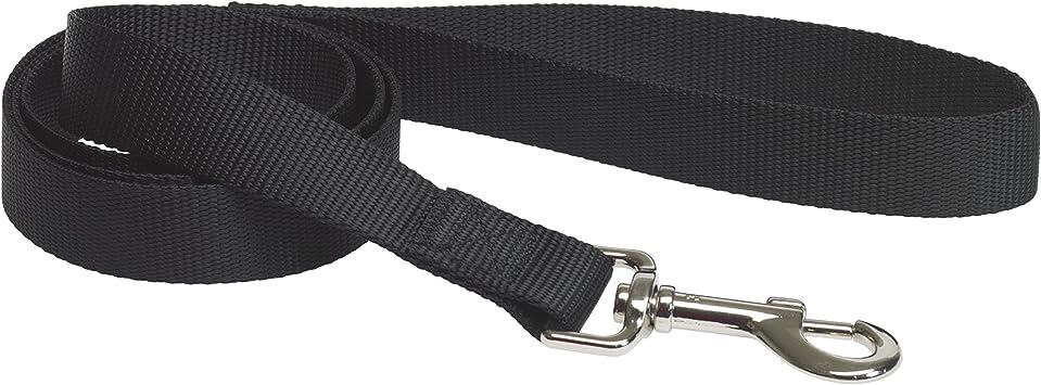 CHAPUIS SELLERIE SLA141 Guinzaglio per cani Misura M Larghezza 20 mm Lunghezza 1,20 m Collare in nylon nero