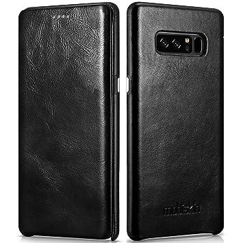 Mobiskin Funda para el Samsung Galaxy Note 8 / SM-N950, Carcasa Fina con Cuero en el Exterior, Funda Protectora abatible hacia un Lado, Estuche Ultra ...
