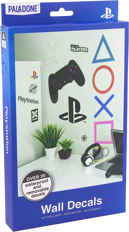 Paladone 5055964742140 Calcoman/ías de pared de Playstation 22 pegatinas de regalo perfecto para jugadores impermeables Multicolor extra/íbles vinilos