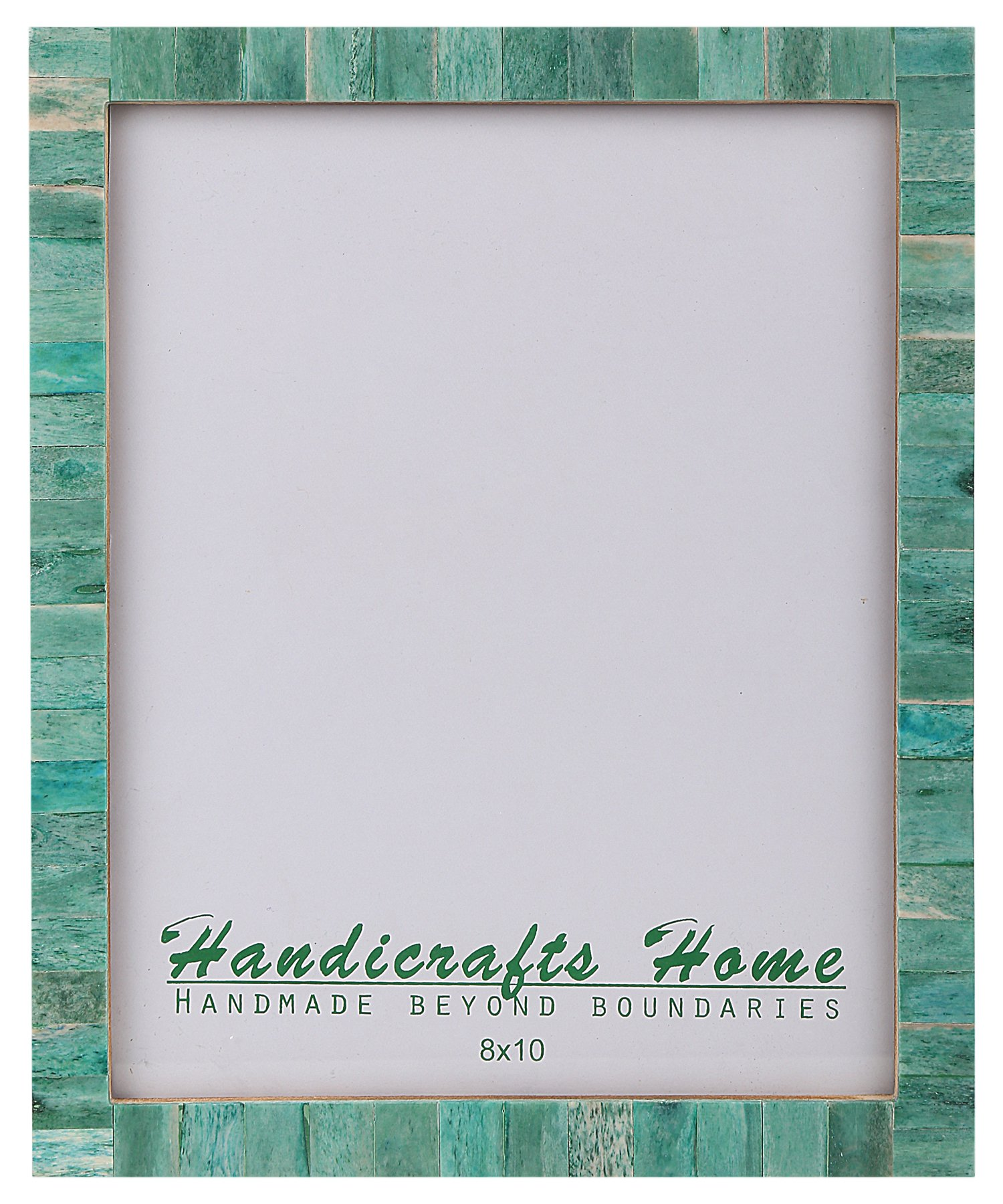 8x10 Bone Picture Frames Chic Photo Frame Handmade Vintage from Handicrafts Home (8x10 Inches, Green)