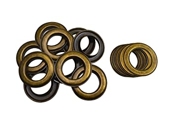 Wuuycoky 3mm Hole Diameter Matte Black Grommets Eyelets with Washer Make of Copper 100 Sets Per Pack