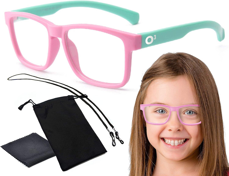 blu marino e giallo Occhiali anti-luce ideale per display per bambini con custodia con filtro anti-fatica tablet PC O/³ per bambini telefono