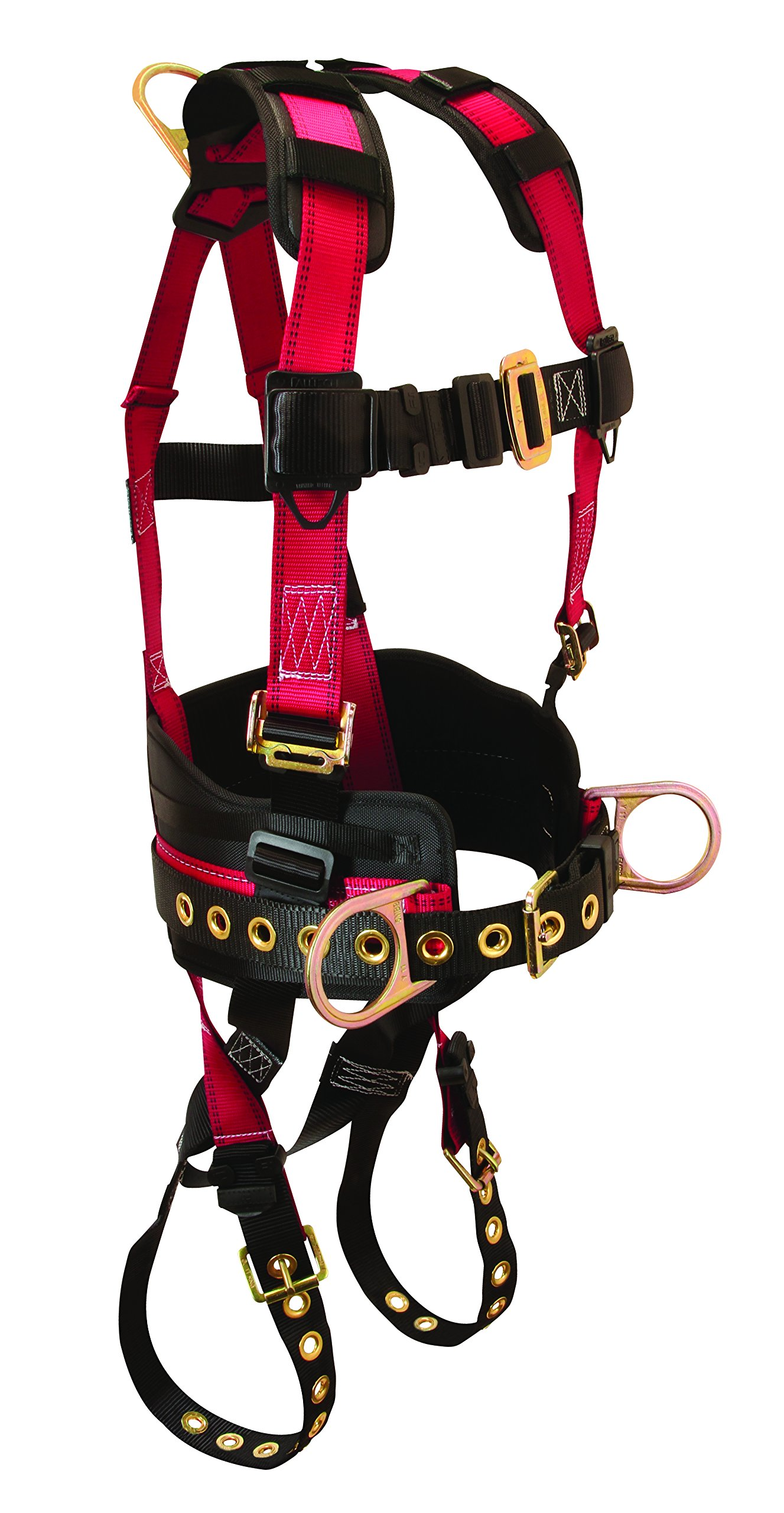 FallTech 7078LX Foreman with Full Body Harness with 3 D-Rings and Tongue Buckle Leg Straps, Large/Extra Large