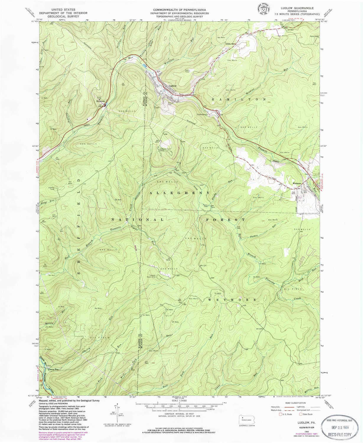 Amazoncom Ludlow Pa Topo Map 124000 Scale 75 X 75 Minute - Pa-on-us-map