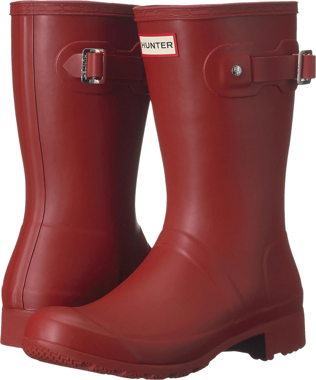Hunters Boots Women's Original Tour Short Boots B01FL9MBEM 10 B(M) US|Military Red