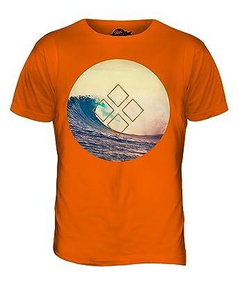 CandyMix Sommer Surfen Herren T Shirt, Größe X-Small, Farbe Orange