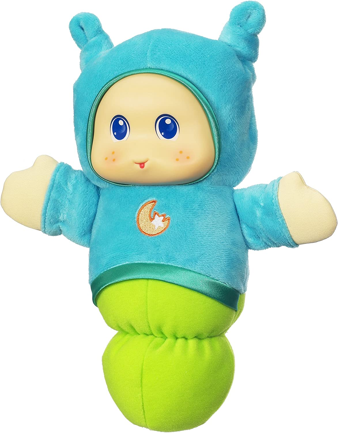 Playskool Lullaby Gloworm Toy with 6 lullaby tunes, Blue (Amazon Exclusive)