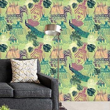 Artzfolio Vinyl Pvc Ethnic India Wall Table Furniture Sticker 20 X 108 Inches Multicolour Amazon In Home Improvement