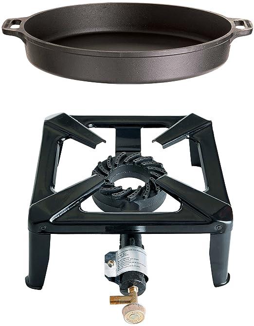 Mehrfarbig Paella World International Grillzubeh/ör Gasanschluss-Set 30 mbar 2-teilig
