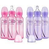 Dr. Brown's Girls' 6 pack 8 oz. bottles - 3 (8 oz.) Lavender - 3 (8 oz.) Pink … (6 Pack Options Bottles)
