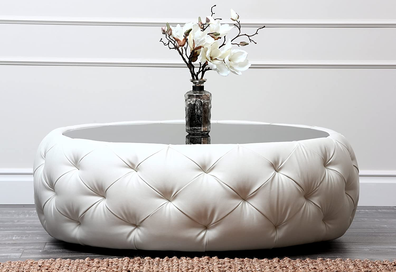 - Abbyson Living Furrinno Round Leather Coffee Table: Amazon.co.uk