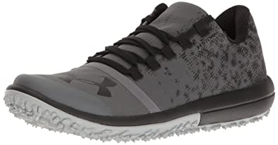 Under Armour Mens Speed Tire Ascent Low Running Shoe Rhino Gray (076)/Black