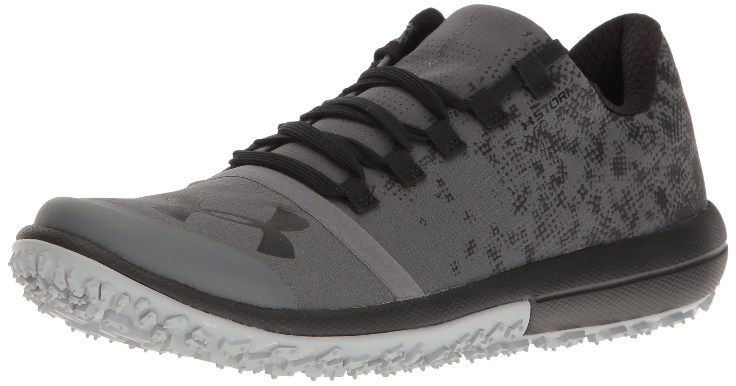 Under Armour Women's Speed Tire Ascent Low, Rhino Gray/Black/Black, 5.5 B(M) US
