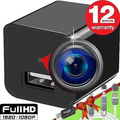 Spy Camera – Hidden Camera – Premium Pack – HD 1080P – Best Spy Charger – USB Hidden Camera – Hidden Spy Camera – Hidden Nanny Cam – Hidden Spy Cam – Hidden Cam – Full HD Surveillance Camera