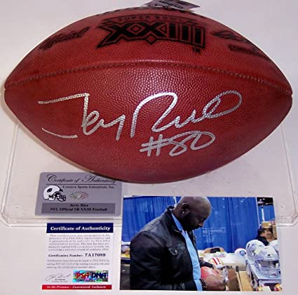 baf32e03a51 Jerry Rice Autographed Hand Signed Super Bowl XXIII Official NFL Football -  PSA DNA