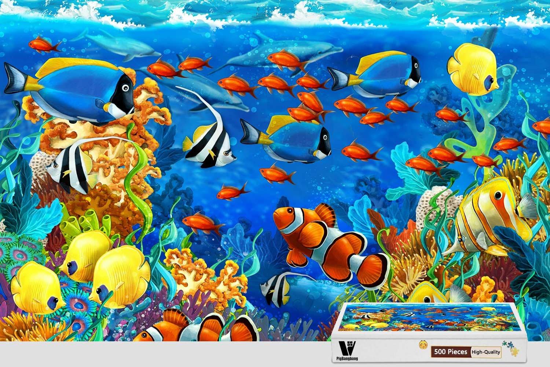 お気にいる pigbangbang Nice、20.6 Corals X 15.1インチ、ハンドメイドintellectivゲームプレミアム木製DIY接着のJigsaw Nice – Painting – Dolphin Sea Ish Corals Underwater – 500ピースジグソーパズル B07CM2H1VV, 香焼町:07761d5e --- a0267596.xsph.ru