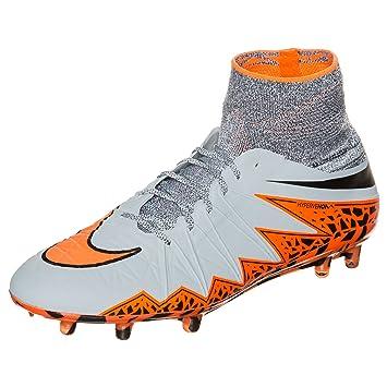 new styles 7f2af 8e5c0 Nike Hypervenom Phantom II FG Firm Ground Soccer Ball, US 11.5 (Wolf Grey Total  Orange Black)  Amazon.in  Sports, Fitness   Outdoors