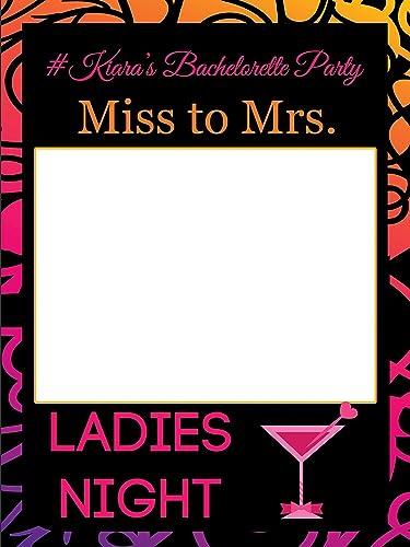Amazon.com: Custom Ladies Night Martini Glass Bachelorette Photo ...