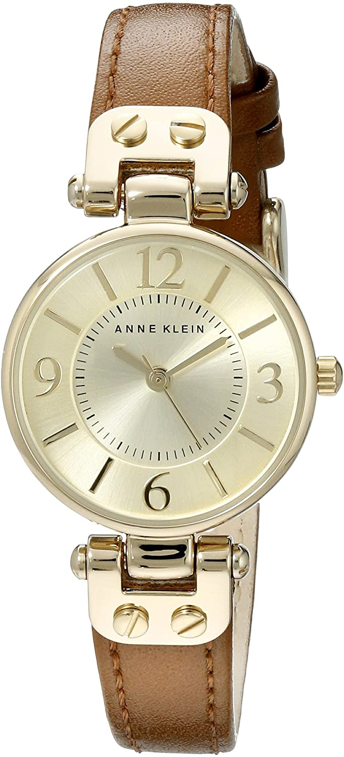 Anne Klein Women's 10/9442 Leather Strap Watch