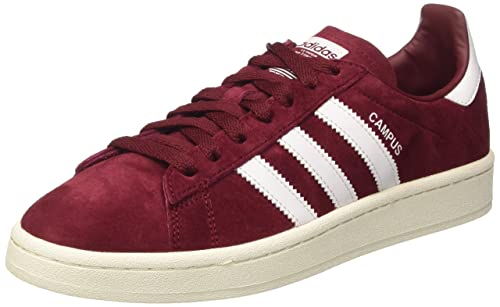 detailed look 4e2f3 eca3a adidas Mens Campus Low-Top Sneakers, Collegiate Burgundy White, 11 UK