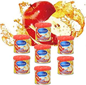 My Shaldan 7 Packs Apple Scent Car Air Freshener Premium Quality Gel Based and Long Lasting Fresh Fragrance