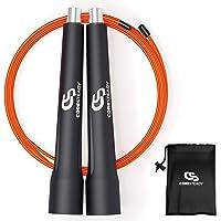 Coresteady Hastighetsrep – justerbart professionellt hopprep – perfekt för fettförbränningsövningar, HIIT-träning…