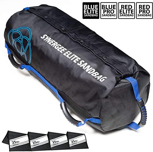 Synergee Adjustable Fitness Sandbag from 10lbs to 100lbs. Adjustable Sandbags with Filler Bags - Heavy Duty Weight Bag