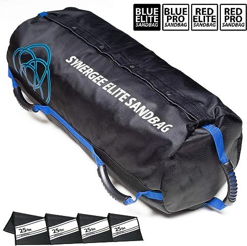Synergee Adjustable Fitness Sandbag from 10lbs to 100lbs. Adjustable Sandbag