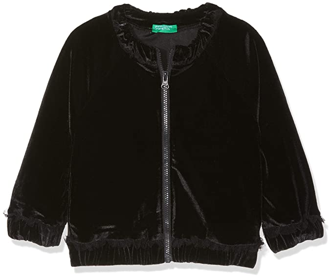 United Colors of Benetton Jacket, Chaqueta para Niñas, Negro (Black 100),