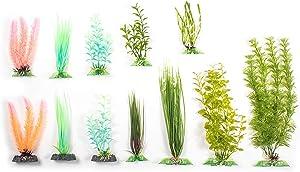 Penn Plax Twelve Piece Aquarium Plant Gift Set for a 10 Gallon Fish Tank