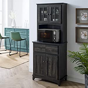 Home Source Brook Microwave Stand (Charcoal)